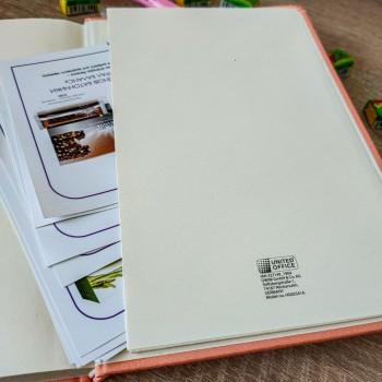 Блокнот, ежедневник формата А5 персикового цвета Live Laught Love