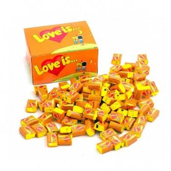 Блок жвачек Love is... со вкусом апельсин-ананас, 100 шт.