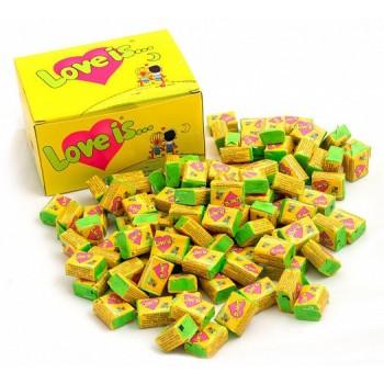 Блок жвачек Love is... со вкусом кокос-ананас, 100 шт.