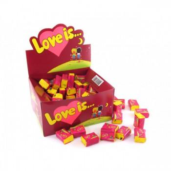 Блок жвачек Love is... со вкусом вишня-лимон, 100 шт.