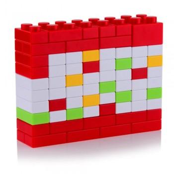 Вечный Календарь Puzzle  из блоков конструктора (красный)