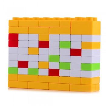 Вечный Календарь Puzzle из блоков конструктора (жёлтый)