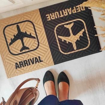 Коврик придверный с принтом Arrival Departure