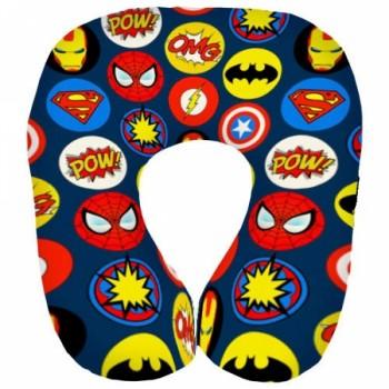 Дорожная подушка под шею для путешествий Супергерои