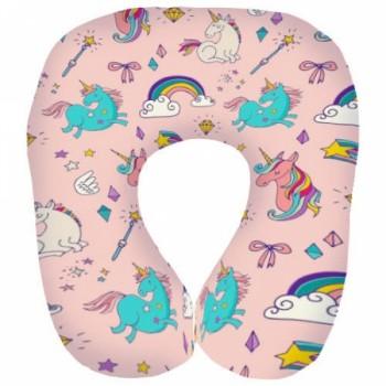 Дорожная подушка под шею для путешествий Единорожки