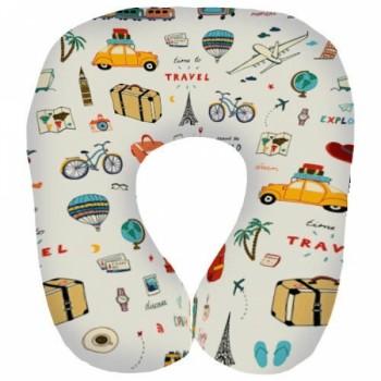 Дорожная подушка под шею для путешествий Travel