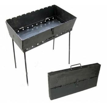 Складной мангал чемодан на 12 шампуров (толщина 2мм., вес 7.5кг.)