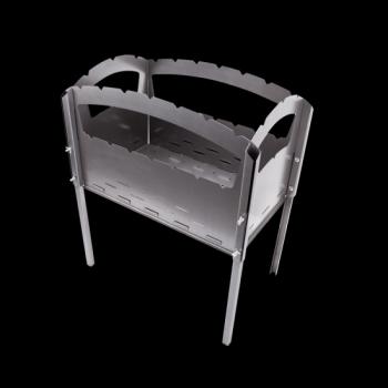 Складной мангал из стали 7+7 шампуров (толщина 1.5мм., вес 9.5кг.)