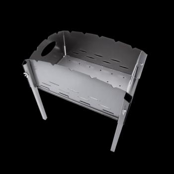 Складной мангал из стали 5 шампуров (толщина 1.5мм., вес 5.4кг.)