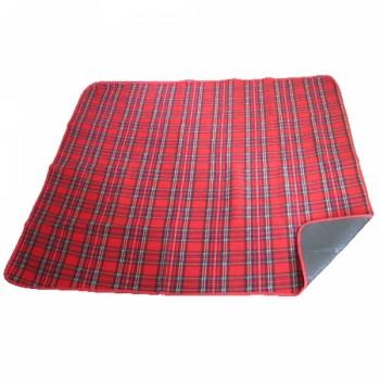 Коврик подстилка для пикника 1.5х2м (красный в клетку)