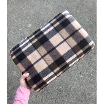 Коврик подстилка для пикника 1.5х2м (коричневый в клетку)