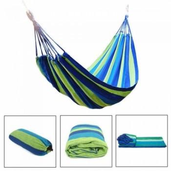 Подвесной гамак из хлопка в мексиканском стиле 100х200 см (синий, зеленый, голубой)