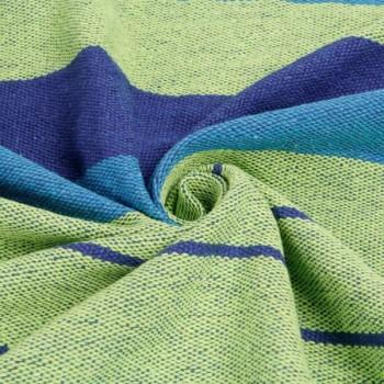 Подвесной гамак из хлопка в мексиканском стиле 80х200 см (синий, зеленый, голубой)