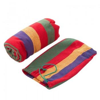 Подвесной гамак из хлопка в мексиканском стиле 80х200 см (красный, синий, зеленый, желтый)