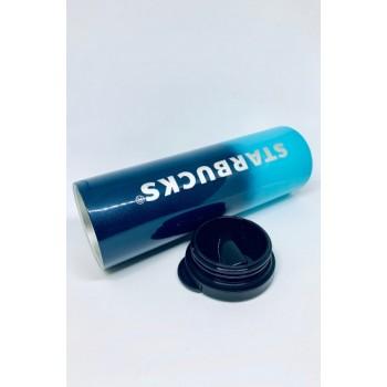 Термокружка глянцевая с блестками Starbucks 473мл (Blue)