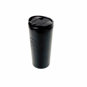 Термокружка матовая Starbucks тамблер Black 473мл
