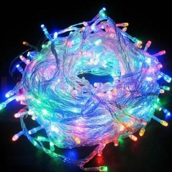 Гирлянда светодиодная 300 LED, прозрачный шнур (цвет мультиколор)