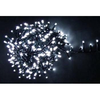 Гирлянда светодиодная 25 м на 500 LED, черный шнур (белый цвет)