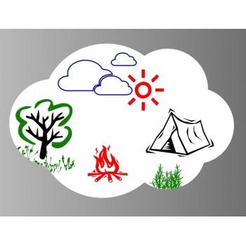 Магнитная доска для маркера Облако
