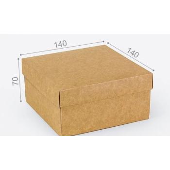 Подарочная коробка Крафт 14х14х7 см