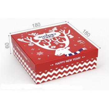 Подарочная коробка С новым годом 18х18х5 см