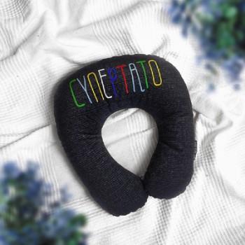 Дорожная подушка под шею для путешествий Супер тато