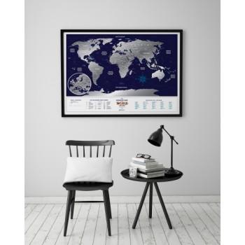 Скретч карта мира Travel Maps Holiday World