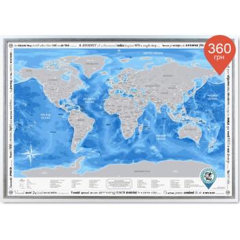 Скретч карта Discovery Map World на английском языке