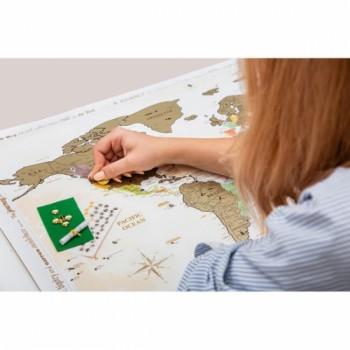 Скретч карта Discovery Map World Gold на английском языке