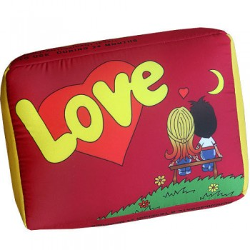 Подушка с принтом Love красная как жвачка Love is ... со вкусом вишня-лимон